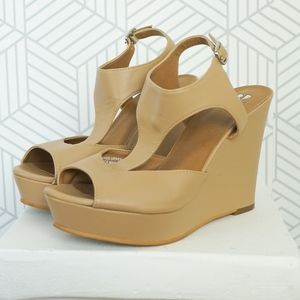 BP beige sandal wedge